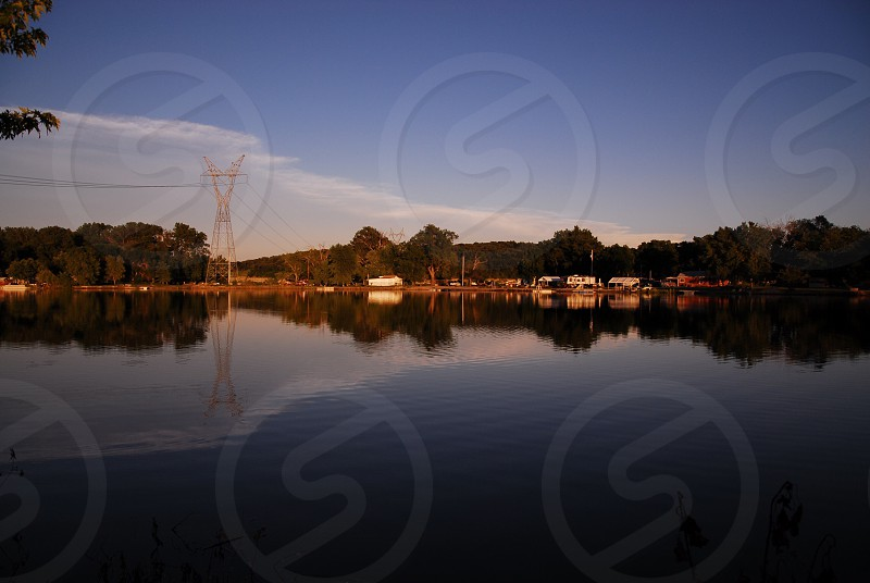 At a lake in Springfield before sundown.  photo