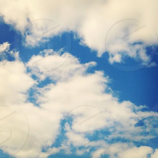 Clouds sky blue sky England weather photo