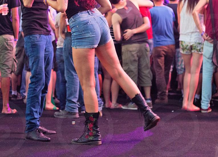 boy and girl dancing photo