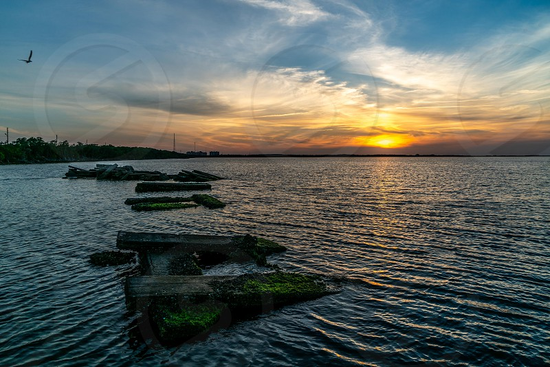 A beautiful sunset over Tampa Bay in west central Florida. photo