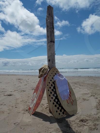 Ready to Play!  Rockaway Beach Oregon USA.  #beach #Oregon #ocean #sea #sand #surf #sunshine #summer #vacation kids #children #kids #holiday #driftwood #clouds #blue photo