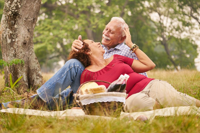 old; man; woman; couple; husband; wife; picnic; activity; basket; elderly; fun; grandfather; grandma; grandmother; grandpa; grass; happy; hispanic; joy; leisure; lifestyle; love; nature; outdoors; park; people; persons; pic nic; recreation; retired; romantic; senior; smiling; together; trees; affection; bond; happiness; retirement; romance; serene; spring; summertime; tenderness; 70s; meal; woods; relationship; weekend; date photo