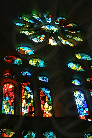 Stained Glass La Sagrada Familia photo