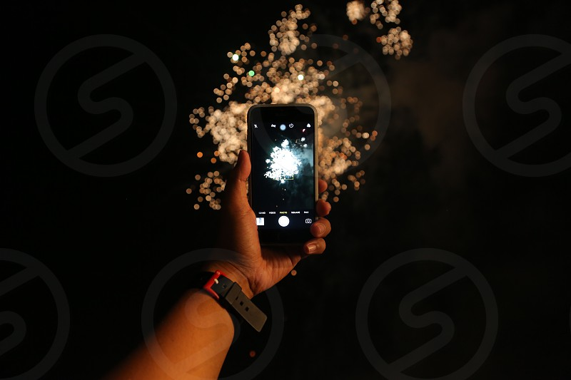 The fireworks photo