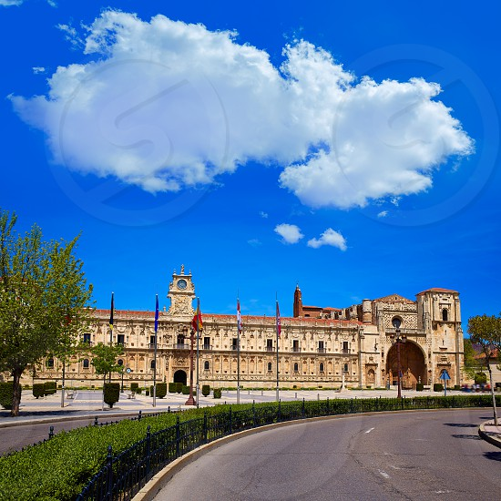 San Marcos in Leon at the way of Saint James Castilla Spain photo