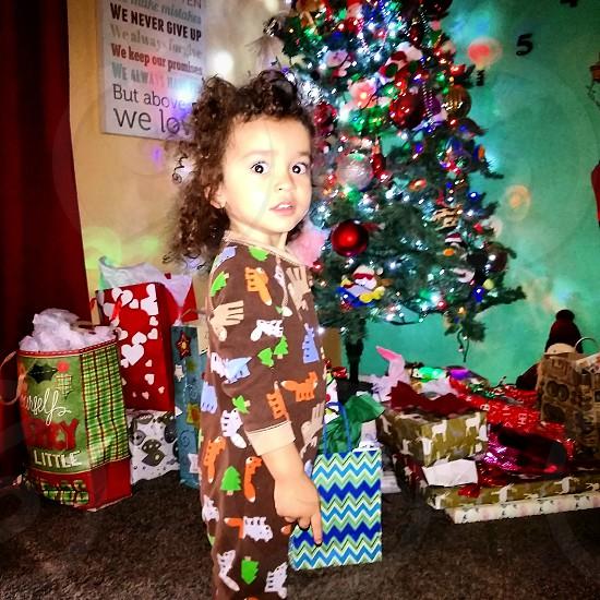 toddler boy early Christmas morning photo