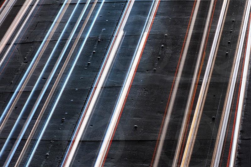streaks of light on freeway traffic photo