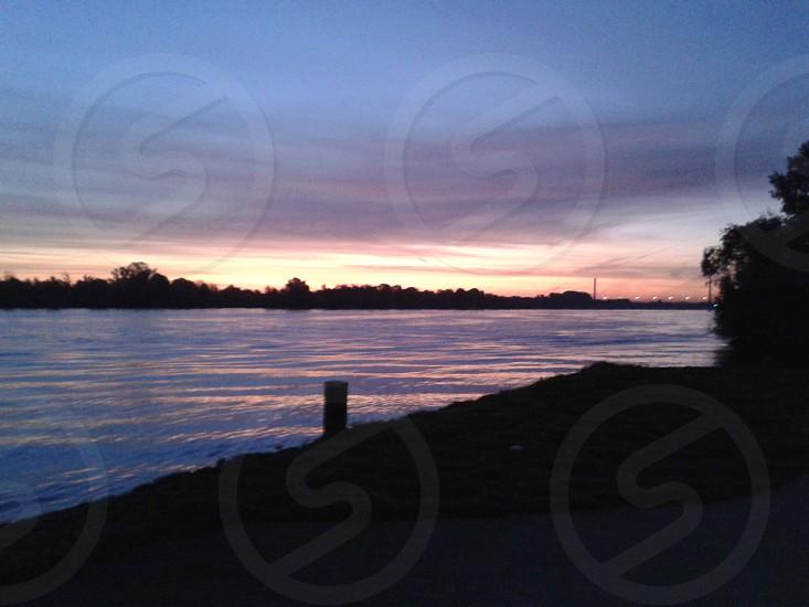 Danube River in the morning photo