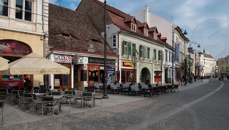 Sibiu ( European Capital of Culture 2007 ) Nicolae Balcescu street Sibiu City Romania 400m 10-04-2010 photo