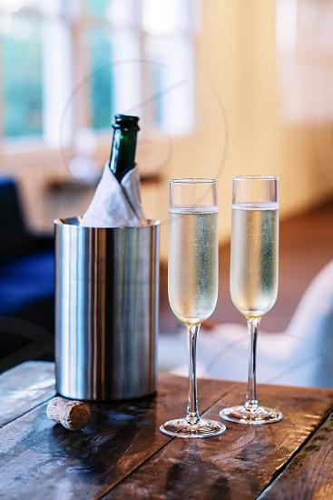 Sparkling wine bubbles wine white wine home cozy photo