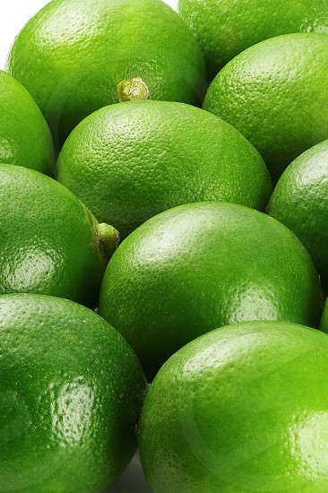 bounch of vivid green fresh lime view from close up photo