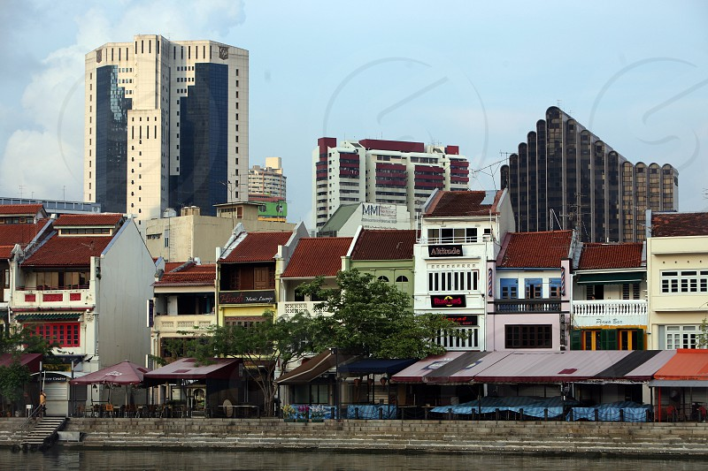 the Bank quater at the Singapore River and Marina Bay in the city of Singapore in Southeastasia. photo
