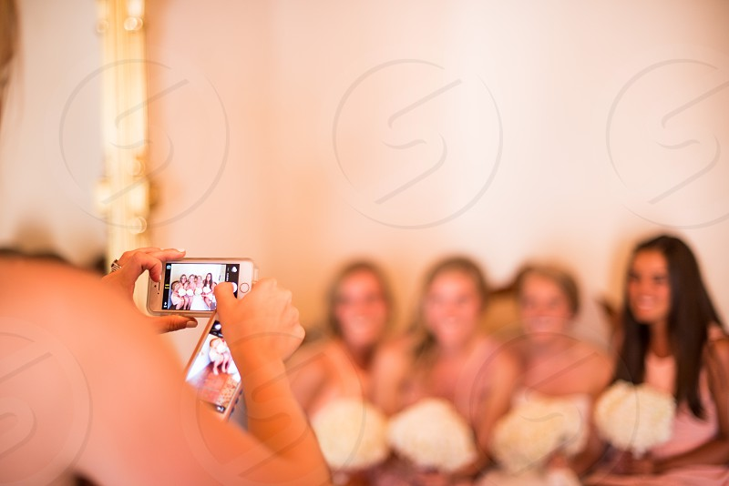iPhone artist captures bridesmaids before the big walk down the aisle!  photo