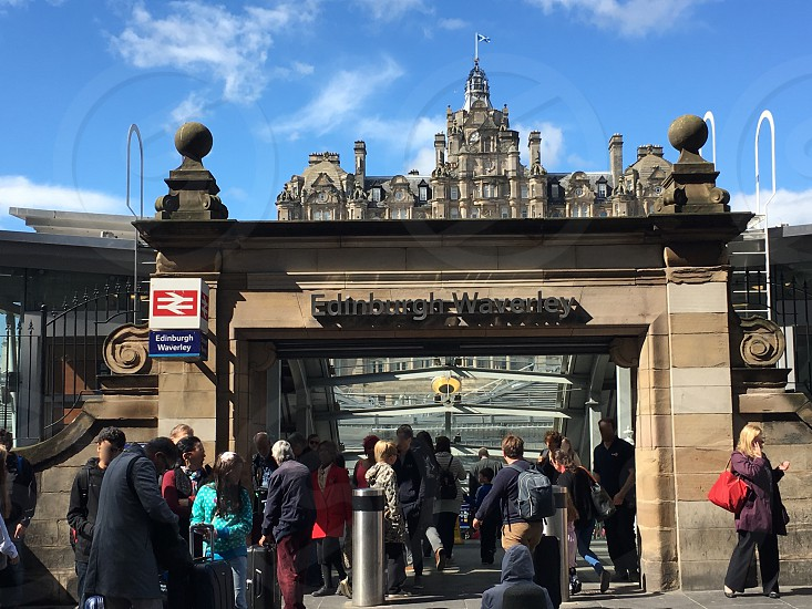 Edinburgh Waverley Railway Station photo