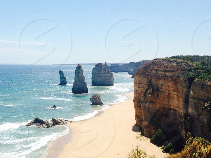 great ocean road australia #beach #greatoceanroad #sunny photo