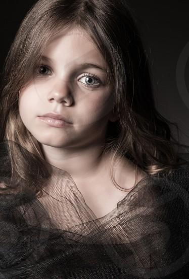 kid girl young portrait powerful beauty fashion photo
