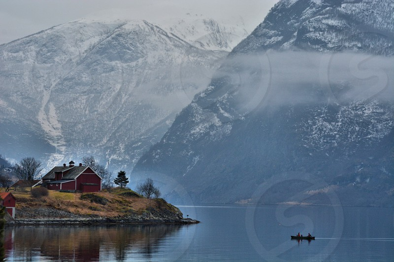 Kayaking on the Fjord Norway photo