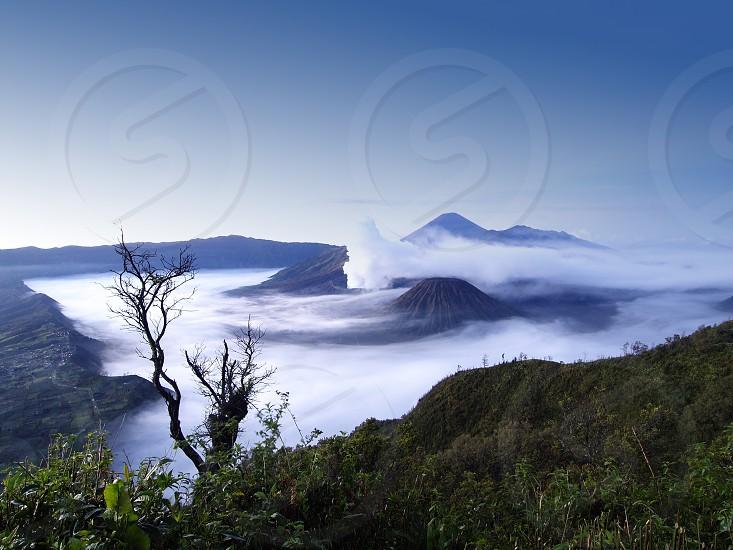 Bromo Tengger Semeru National Park located in East Java Indonesia photo