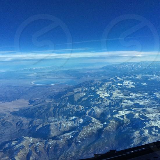 mountain's on bird's eye view photo