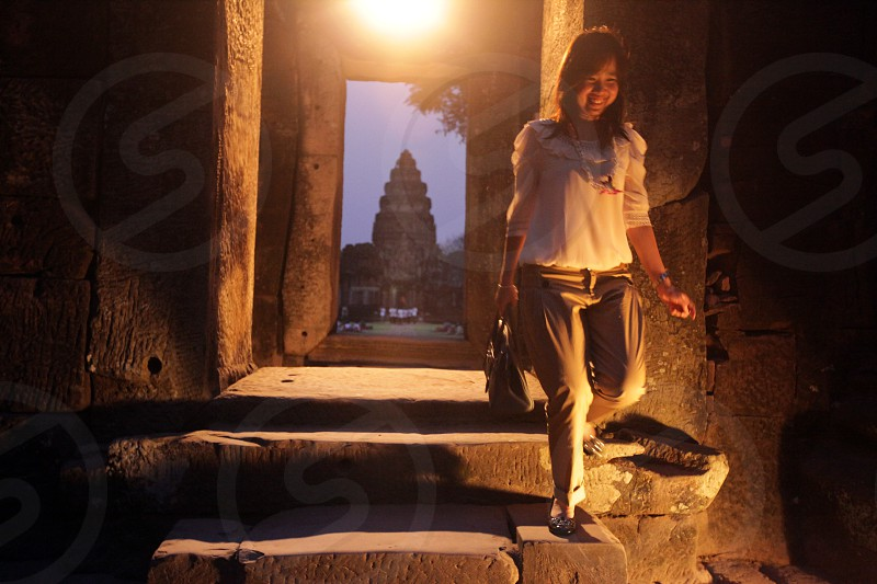 Die Khmer Tempel Anlage von Phimai bei Khorat in der provinz Nakhon Ratchasima im Nordosten von Thailand im Suedwesten von Thailand in Suedostasien.  photo