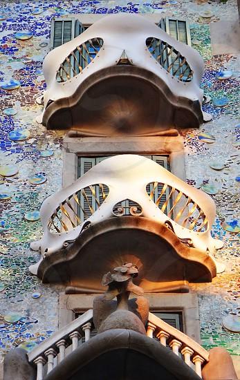 Casa Batllo - balconies - Barcelona - skull photo