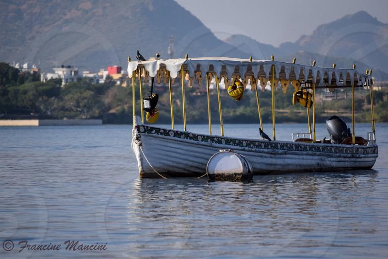 Lake boat peaceful travel India photo