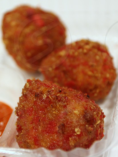 Deep Fried Sriracha Balls  state fair food photo