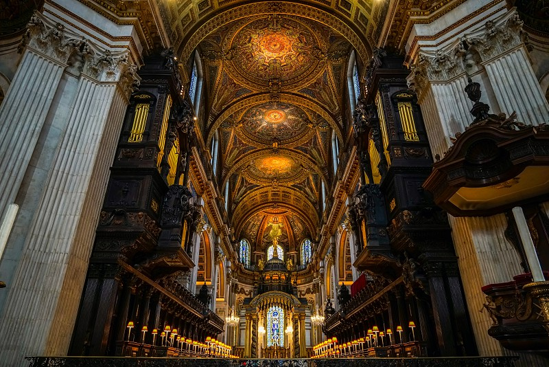 Interior View of St Pauls Cathedral photo