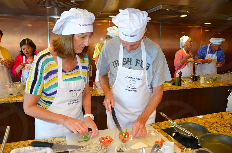 Cooking Class Actvity Old People photo