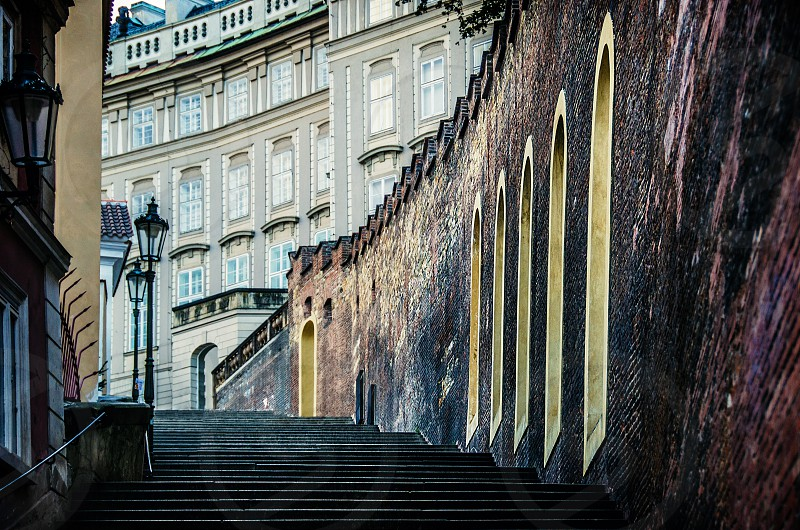 rome europe staircase stairs steps buildings photo