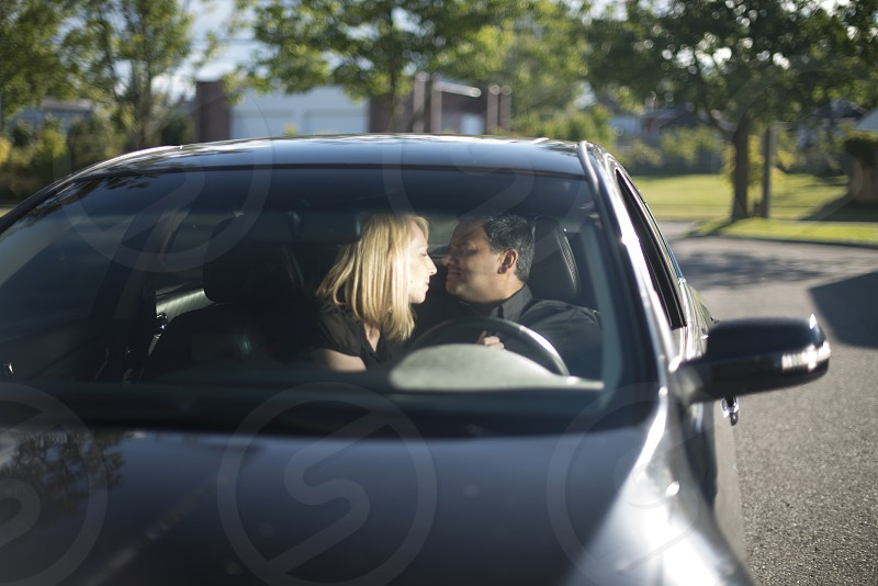Couple in a vehicle photo