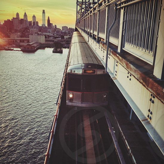 Sky Line. (Looking towards Philly from the Benjamin Franklin Bridge) photo