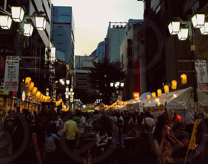 Tokyo  festival  Japan  Shinjuku  matsuri photo