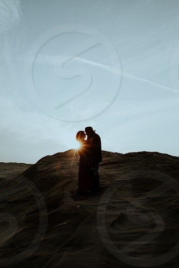 Sand Dunes Couples Session at Sunset photo