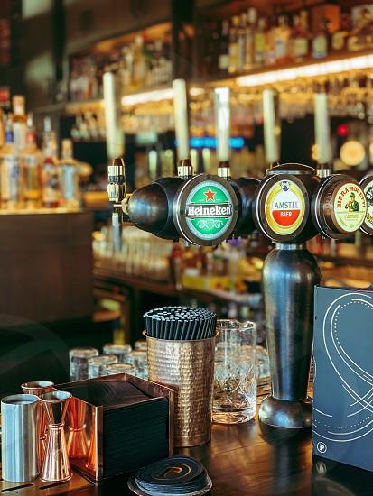 Bar cocktails drinks alcohol beer photo