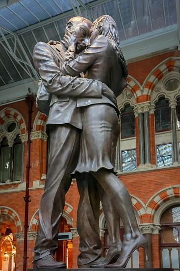 Statue on display at St Pancras International Station photo