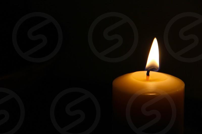 yellow candle light photo
