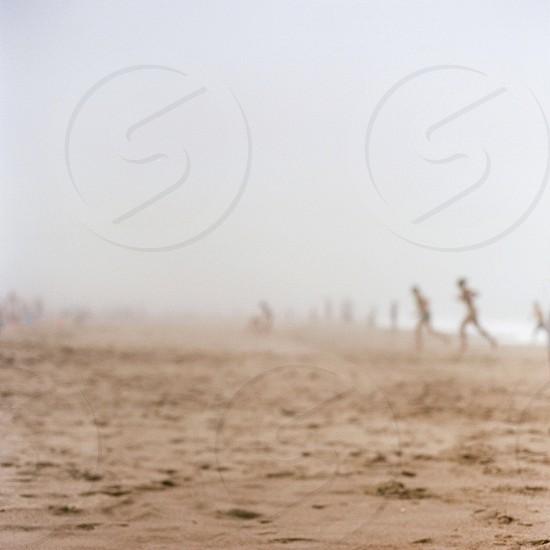 Beach fog film photography  photo