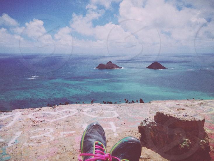 seashore and island view photo