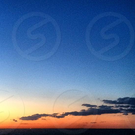 Sunset. Beach.  photo