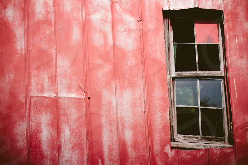 red wooden panel wall photo