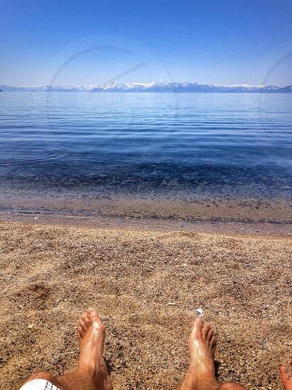 Lake relax beach photo