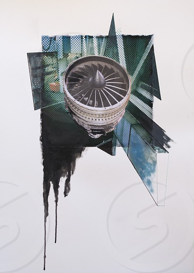 One of my  Word (collage and mixed media) about Airports and Airplanes. photo