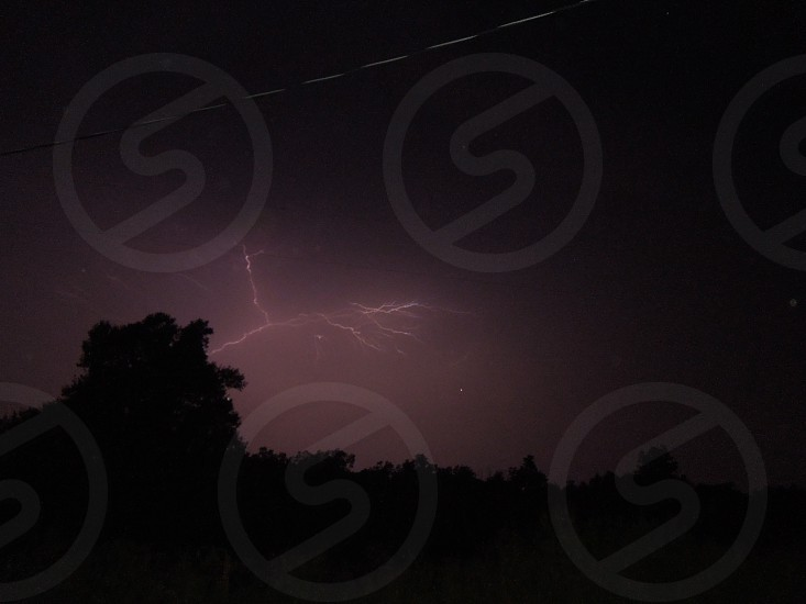 Pink lightning bolt photo
