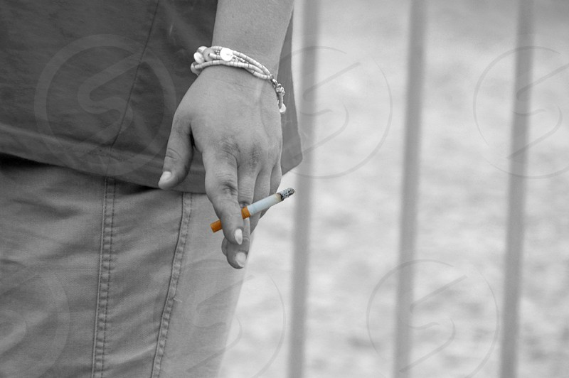 Cigarette smoker photo