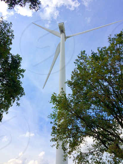 Windmill Energy trees wind Mill sky movement photo