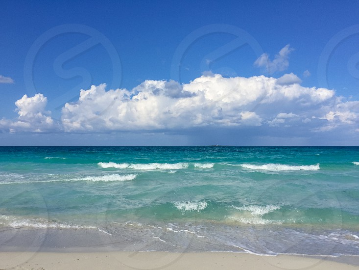 Light surf on the Atlantic coast Cuba Varadero photo