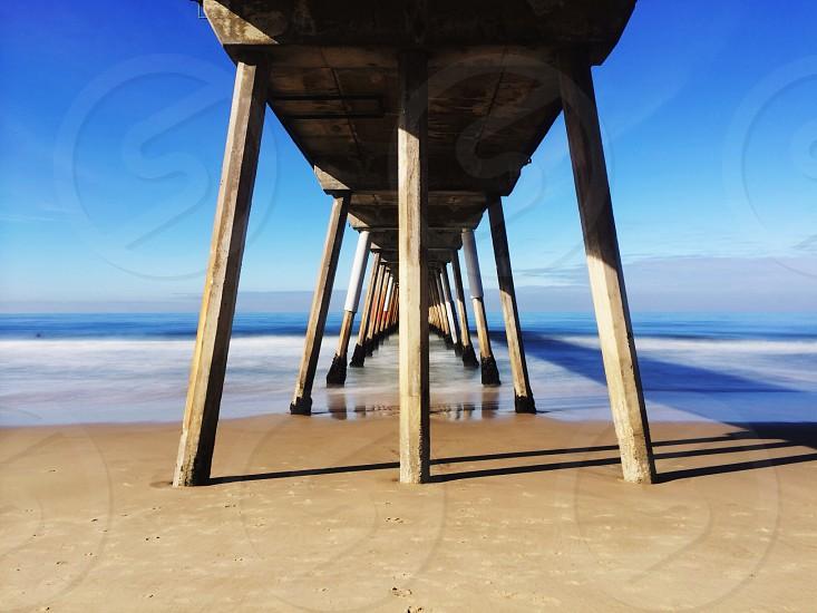 brown wooden harbor photo