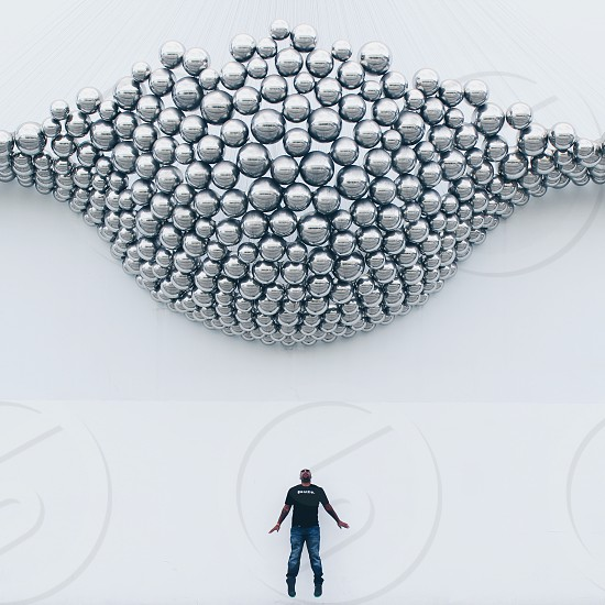 silver beads photo