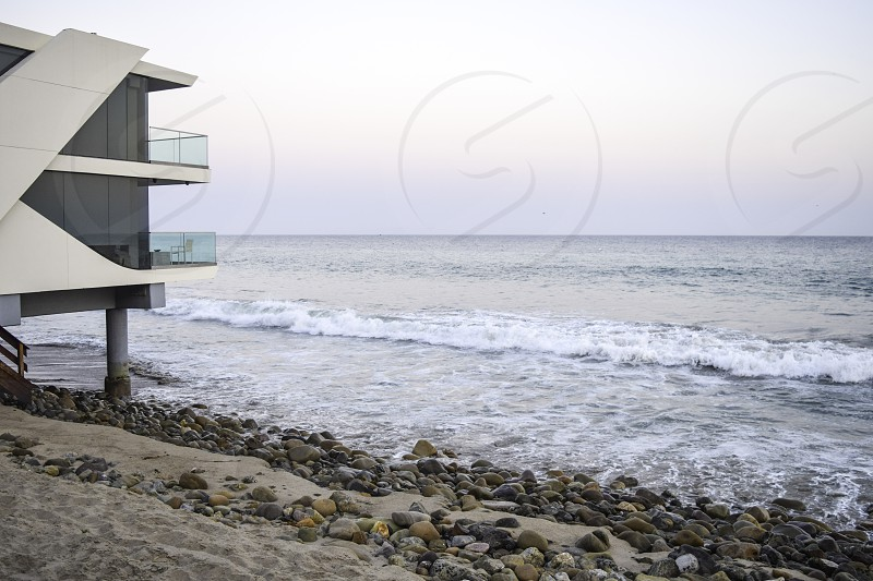 Beach home on Malibu Beach  photo